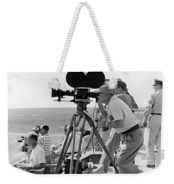 Photographers Filming An Event Weekender Tote Bag