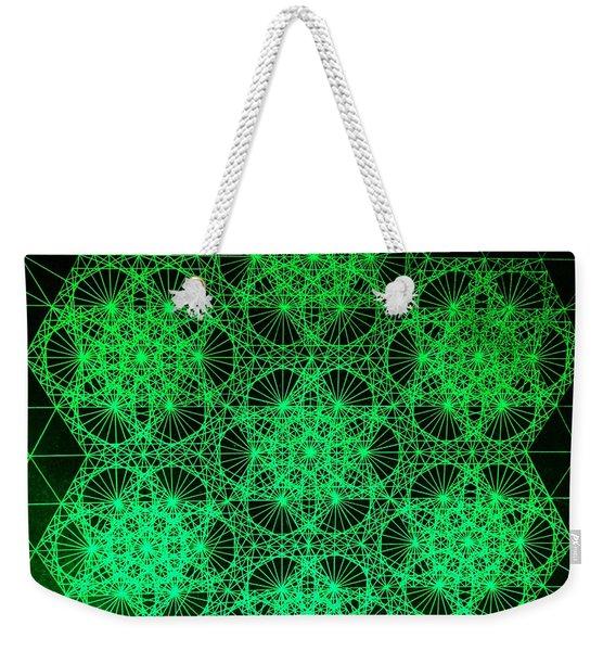 Photon Interference Fractal Weekender Tote Bag
