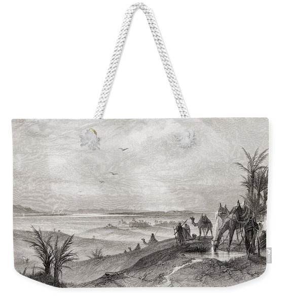 Pi Hahiroth And The Red Sea, Where The Israelites Camped During Their Exodus From Egypt.   Pi Weekender Tote Bag