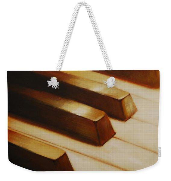 Piano Weekender Tote Bag