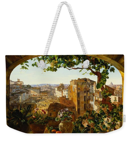 Piazza Barberini In Rome Weekender Tote Bag