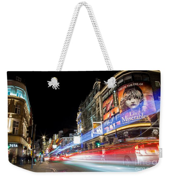 A Night In The West End Weekender Tote Bag