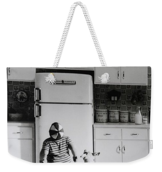 Pie In The Sky In Black And White Weekender Tote Bag