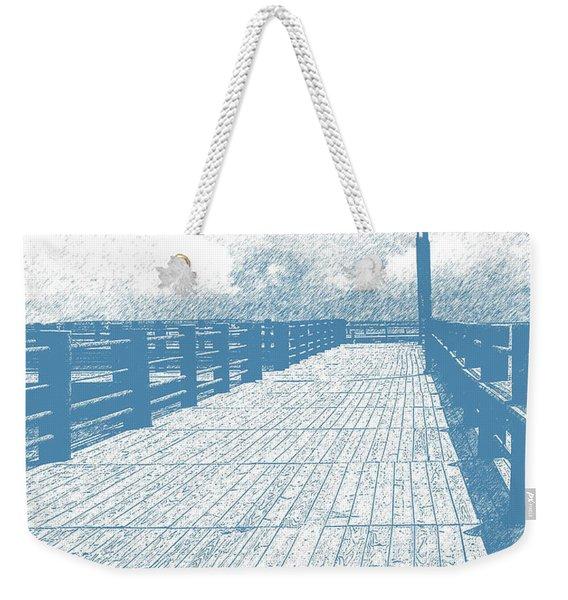Pier In Blue Weekender Tote Bag