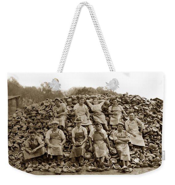 Pierce Brothers Abalone Morro Bay Circa 1925 Weekender Tote Bag
