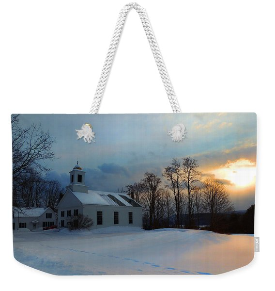 Piermont Church In Winter Light Weekender Tote Bag