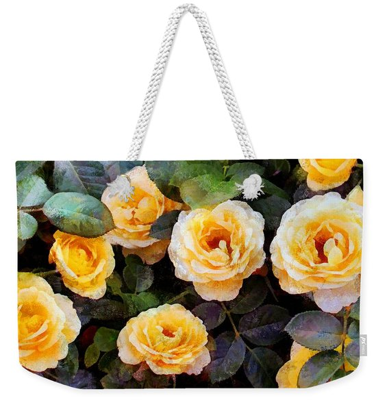 Pierre's Peach Roses Weekender Tote Bag