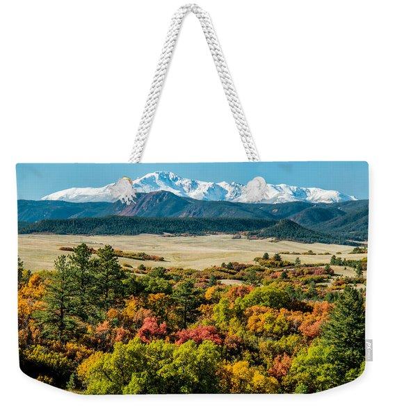 Pikes Peak Over Scrub Oak Weekender Tote Bag