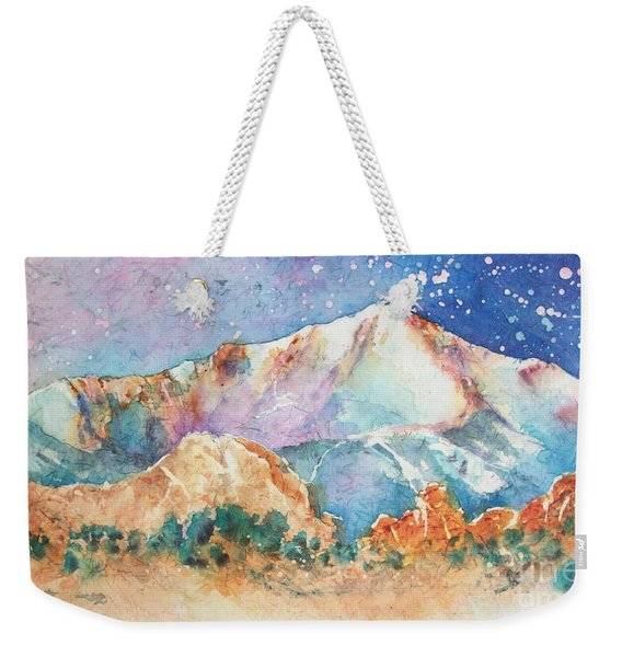 Pikes Peak Over The Garden Of The Gods Weekender Tote Bag