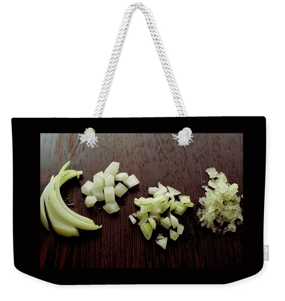 Piles Of Raw Onion Weekender Tote Bag