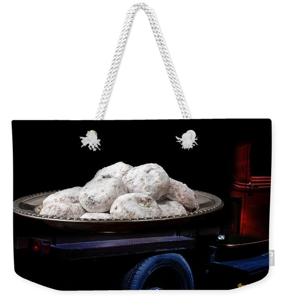 Weekender Tote Bag featuring the photograph Pin Up Cars - #5 by Gunter Nezhoda