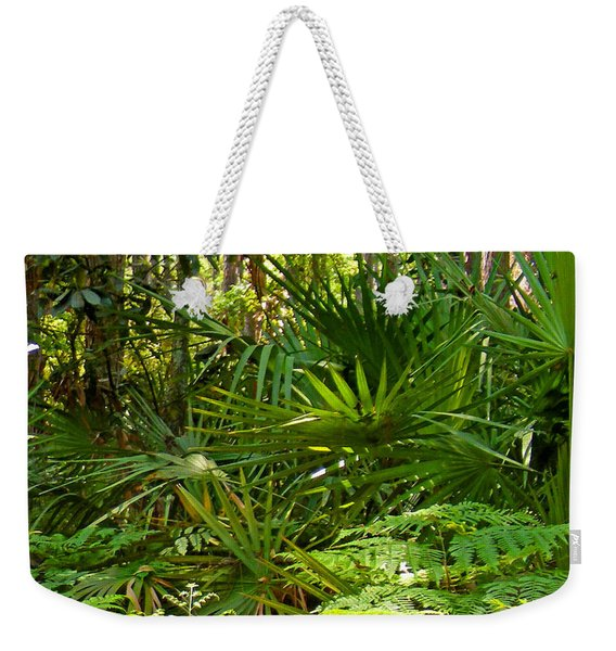 Pine And Palmetto Woods Filtered Weekender Tote Bag
