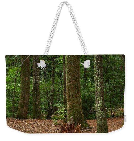 Pine Stump Weekender Tote Bag