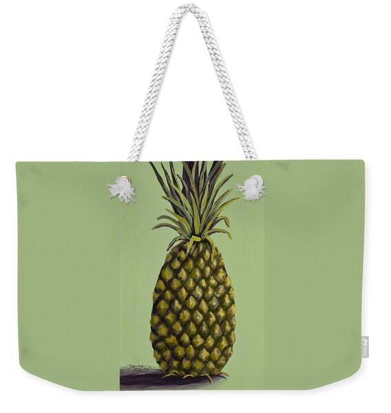 Pineapple On Green Weekender Tote Bag
