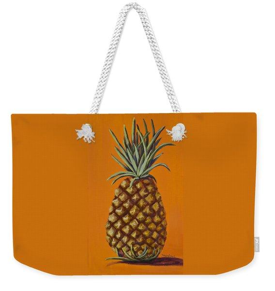 Pineapple On Orange Weekender Tote Bag