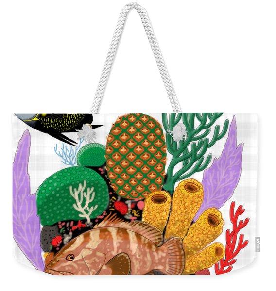 Pineapple Reef Weekender Tote Bag