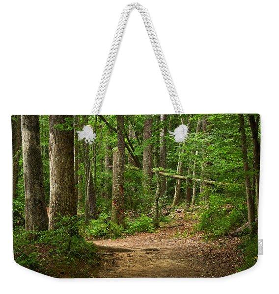Pinewood Path Weekender Tote Bag