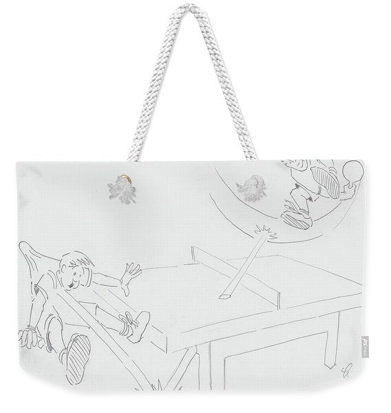 Ping Pong Cartoon Weekender Tote Bag