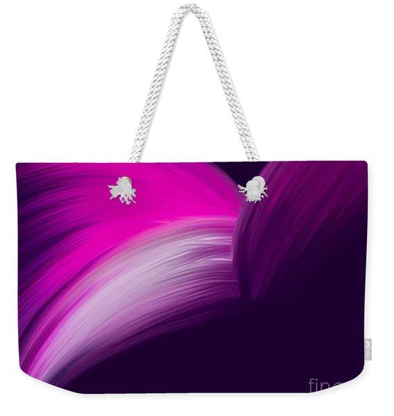 Pink And Purple Curves Weekender Tote Bag