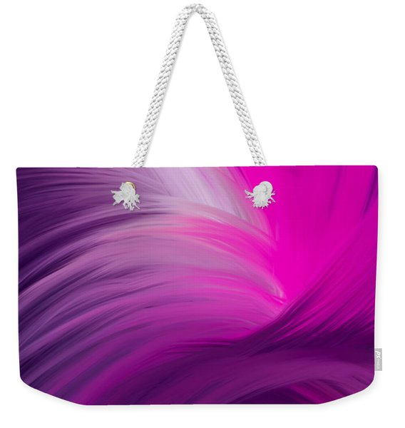 Pink And Purple Swirls Weekender Tote Bag