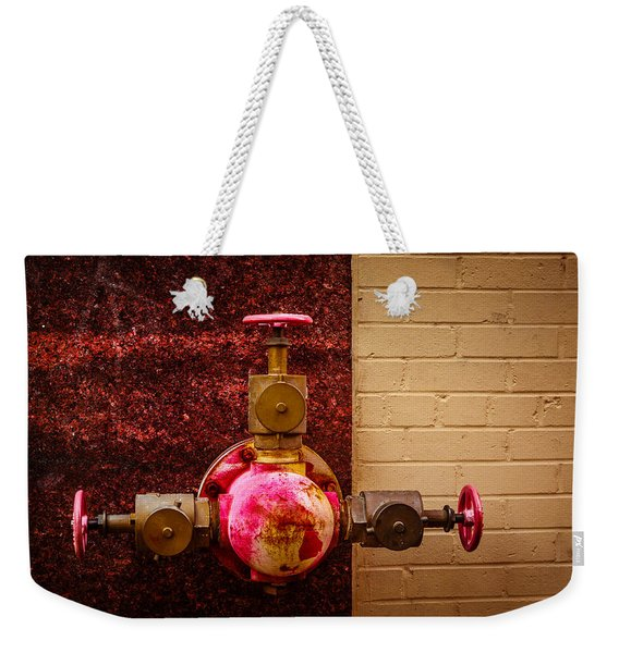 Pink And Rusted Weekender Tote Bag