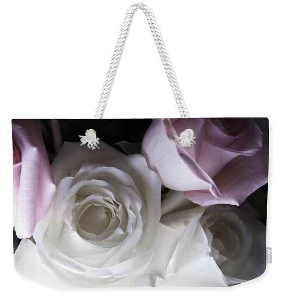 Pink And White Roses Weekender Tote Bag