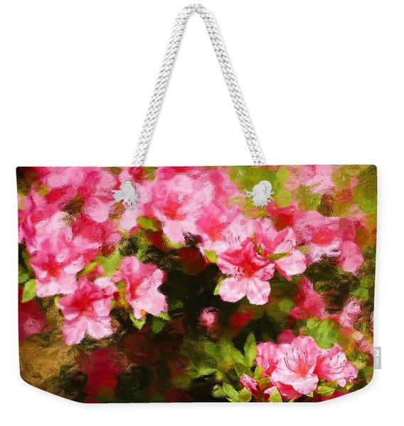 Pink Azealas Weekender Tote Bag