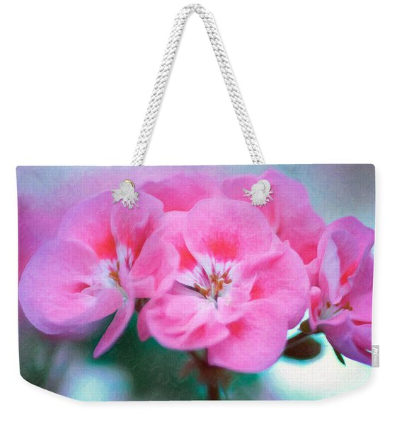 Weekender Tote Bag featuring the photograph Pink Beauty by Garvin Hunter