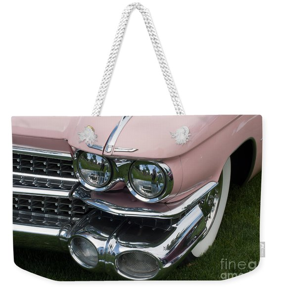 Pink Caddy Weekender Tote Bag