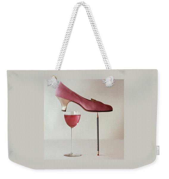 Pink Capezio Pump Weekender Tote Bag