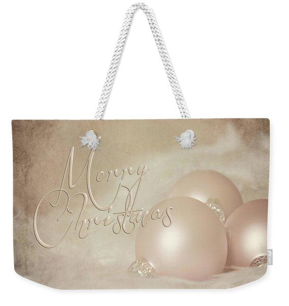 Pink Christmas Ornaments Weekender Tote Bag