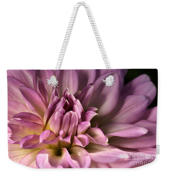 Pink Dahlia's Dream Weekender Tote Bag