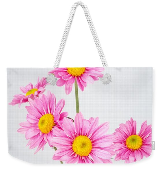 Pink Dasies Weekender Tote Bag