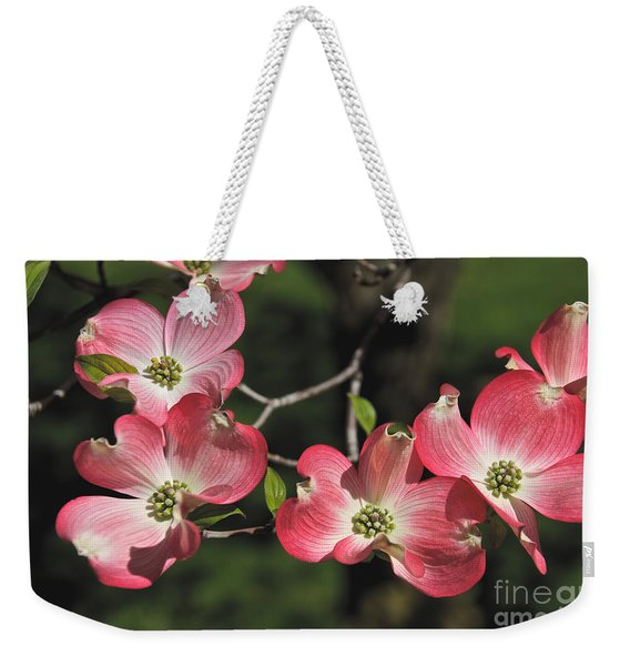 Weekender Tote Bag featuring the photograph Pink Dogwood by William Norton