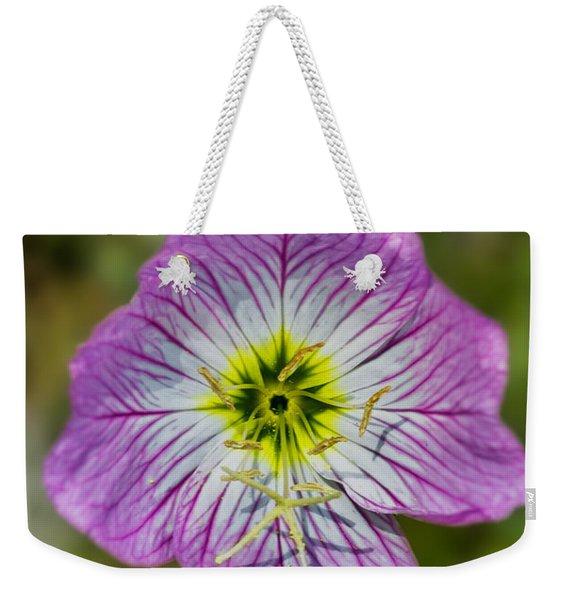 Pink Evening Primrose Weekender Tote Bag