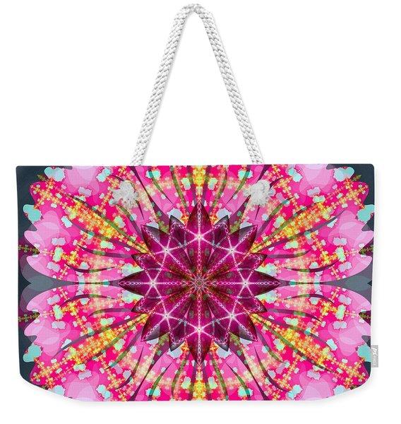 Pink Lightning Weekender Tote Bag