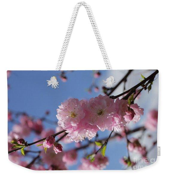 Pink Plum On Sky 2 Weekender Tote Bag