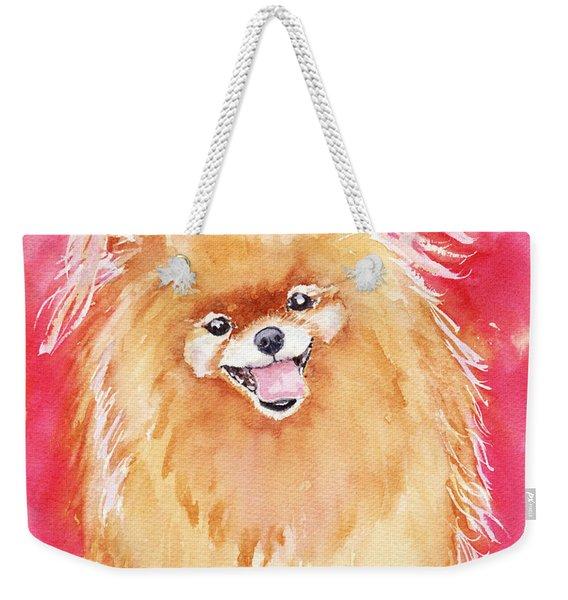 Pink Pom Weekender Tote Bag