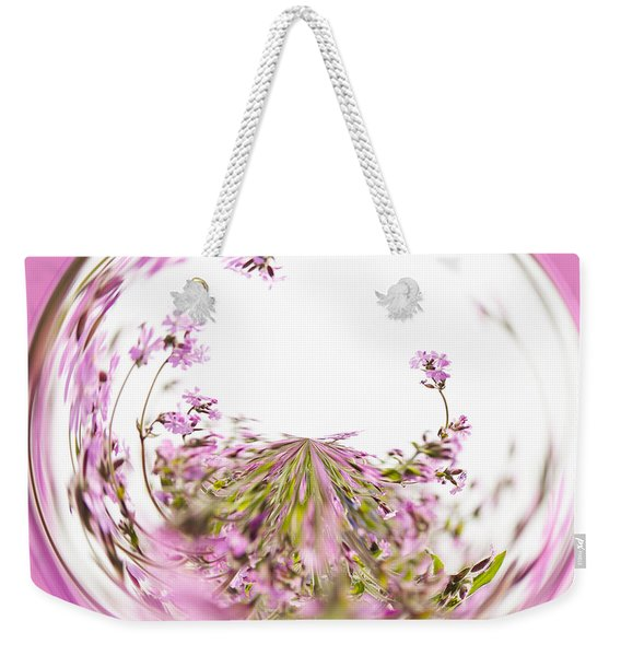 Pink Red Campion Weekender Tote Bag