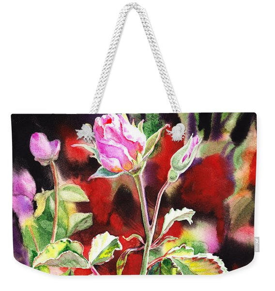 Pink Rose Bloom Weekender Tote Bag