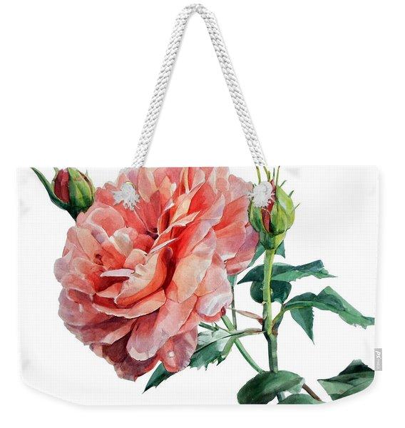 Pink Rose Odette  Weekender Tote Bag