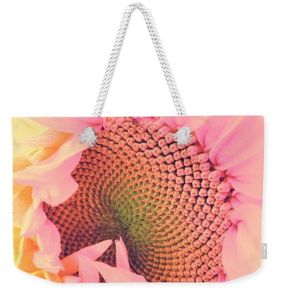 Pink Sunflower Weekender Tote Bag