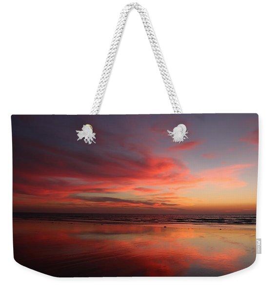 Ocean Sunset Reflected  Weekender Tote Bag