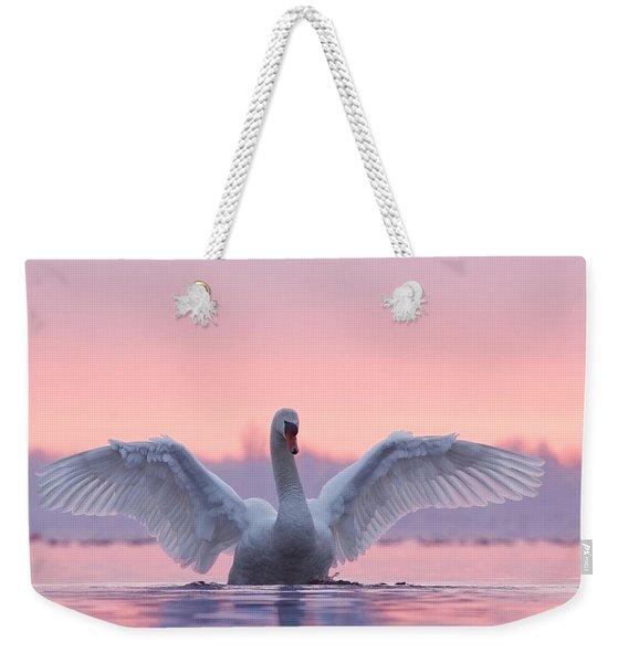 Pink Swan Weekender Tote Bag