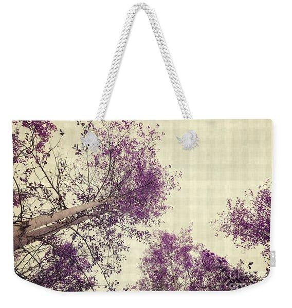 Pink Trees Weekender Tote Bag