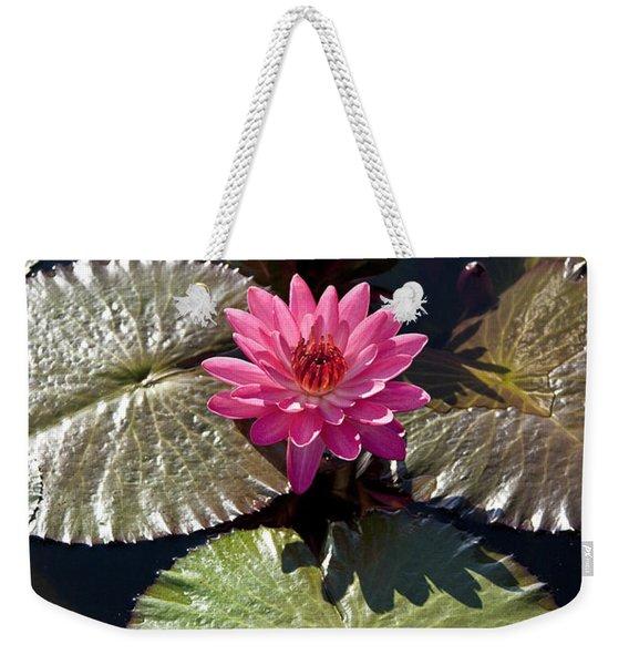 Pink Water Lily IIi Weekender Tote Bag