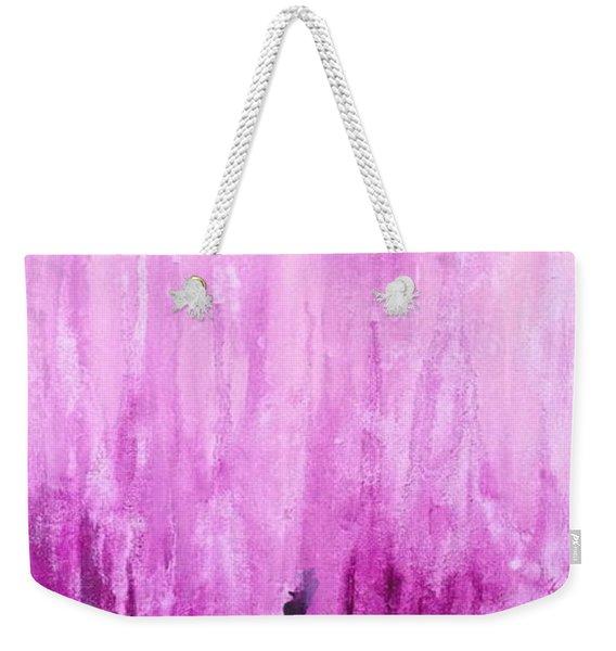 Pink Water Weekender Tote Bag