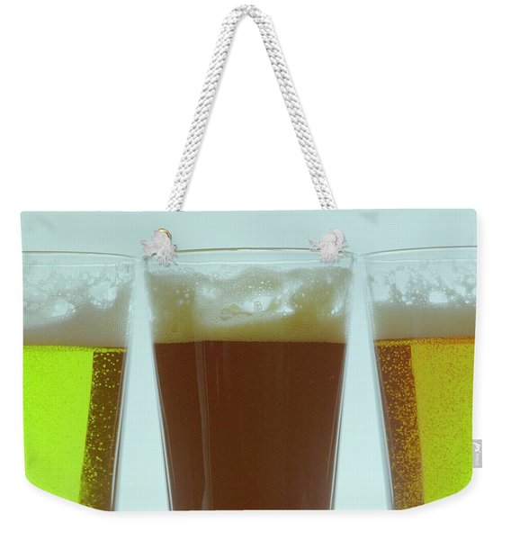 Pints Of Beer Weekender Tote Bag
