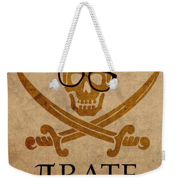 Pirate Math Nerd Humor Poster Art Weekender Tote Bag