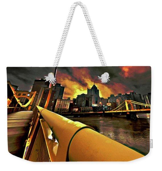 Pittsburgh Skyline Weekender Tote Bag